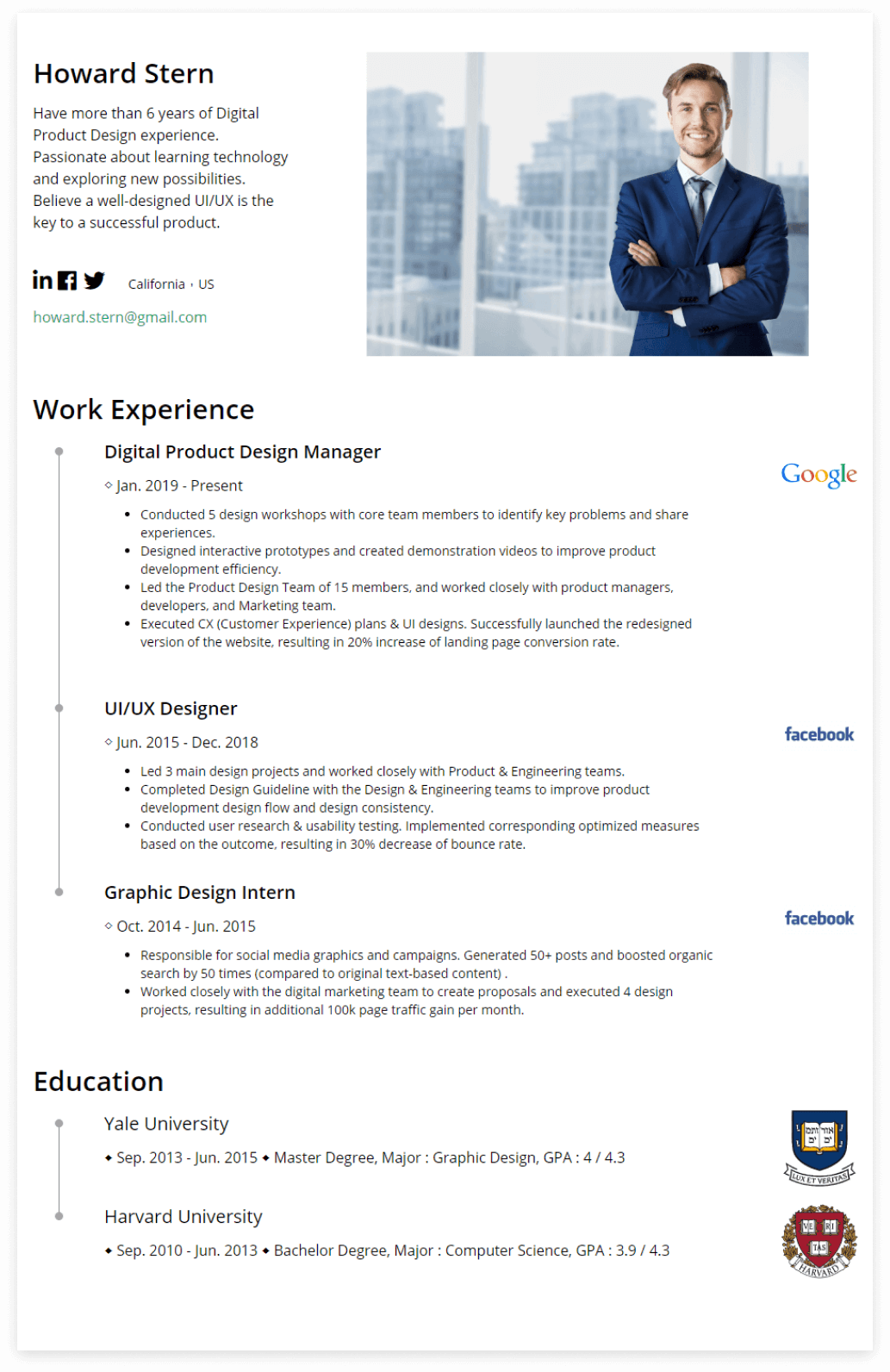 Free Resume Templates & Formats|Create a Professional ...