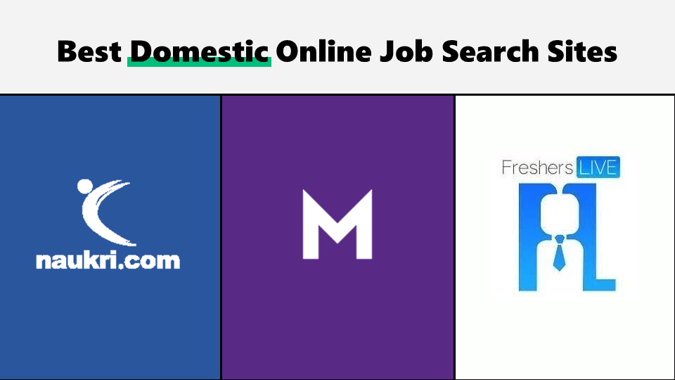 Indian job search sites