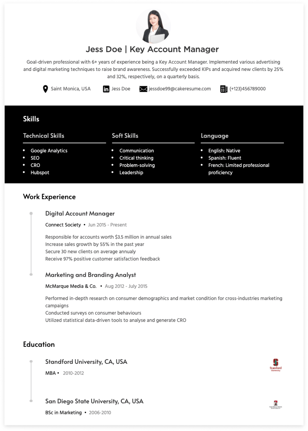account manager resume examples & writing guide